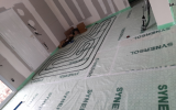Mise en place d'un plancher chauffant